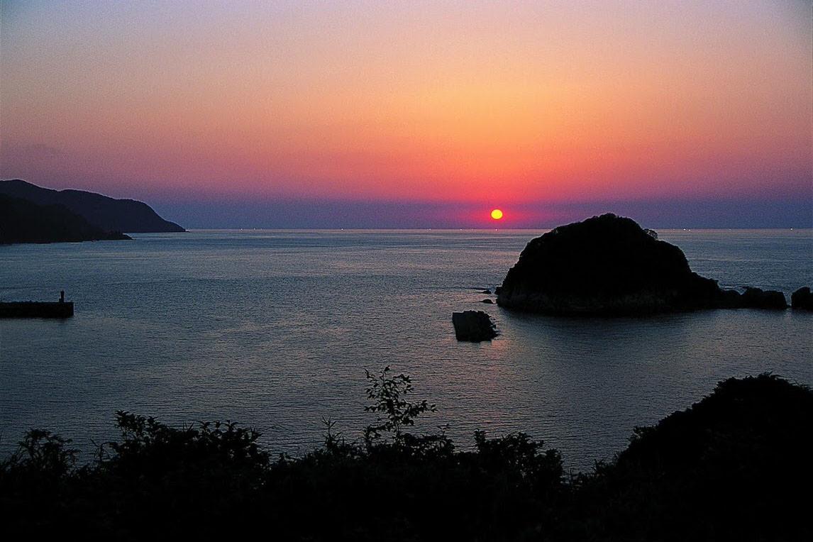 今子浦の夕日